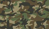 Camouflage Pattern Background. Classic Clothing Style Masking Camo Repeat Print. Green Brown Black O poster