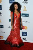 LOS ANGELES - FEB 11:  Esperanza Spalding arrives at the Pre-Grammy Party hosted by Clive Davis at t