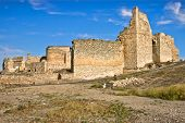 stock photo of calatrava  - Calatrava la Vieja is a medieval site - JPG