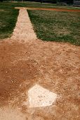 Homeplate On Baseball Field
