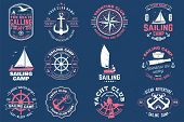 Sailing Camp Badge. Vector Illustration. Concept For Shirt, Print, Stamp Or Tee. Vintage Typography  poster