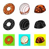 Vector Design Of Confectionery And Culinary Logo. Set Of Confectionery And Product Stock Vector Illu poster