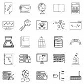Volume Icons Set. Outline Set Of 25 Volume Icons For Web Isolated On White Background poster