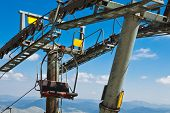 Ropeway On Mount Savin Kuk. National Park Durmitor, Montenegro