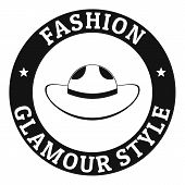 Glamour Hat Logo. Simple Illustration Of Glamour Hat Logo For Web poster