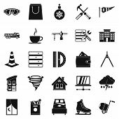 Strong House Icons Set. Simple Set Of 25 Strong House Icons For Web Isolated On White Background poster
