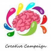 Creative Campaign Icon. Isometric Illustration Of Creative Campaign Icon For Web poster
