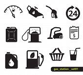 stock photo of vacuum pump  - Gasoline station icons - JPG