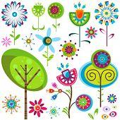 whimsy flowers set