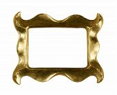 picture of dtp  - empty and funky frame isolated on white with clipping path for easy masking in dtp - JPG