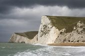 Moody Sky Over White Cliffs