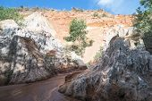 Fairy Stream Canyon, Mui Ne, Vietnam, Southeast Asia. Beautiful Scenic Landscape With Red River, San poster