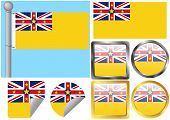 Flag Set Niue