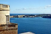 Looking out over the Grand Harbour, Malta