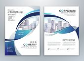 Blue Annual Report Leaflet Brochure Flyer Template Design, Book And Magazine Cover Layout Design, Ab poster