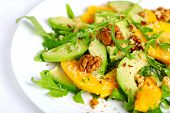image of mango  - Salad with mango - JPG