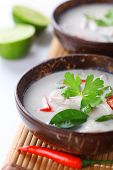 Thai chicken and coconut milk soup- Tom Ka Gai