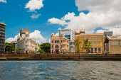 Recife, Pernambuco, Brazil: Panoramic View Of Marco Zero Square At Ancient Recife District poster
