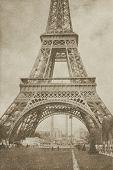 Vintage Eiffel Tower Paris