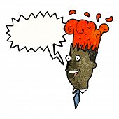 cartoon man's head exploding with incredible idea