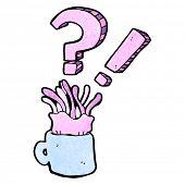 cartoon jellyfish crammed into coffee cup
