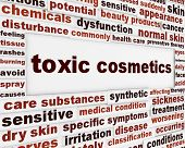 stock photo of toxic substance  - Toxic cosmetics warning message background - JPG