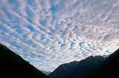 stock photo of stratus  - Stratus Clouds in Nelson Lakes National Park in the Evening - JPG