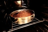 Finished Cake In Oven