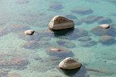 Rocks In Clear Lake Water
