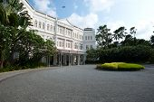 Singapore - April 23: The Raffles Hotel Opened In 1899, And Is Named After Singapore's Founder Sir S