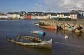 stock photo of claddagh  - Boat graveyard in the River Corrib - JPG