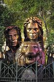 Siegfried & Roy bronze statue at the Mirage in Las Vegas