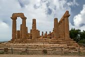 Ancient Greek Temple Of Juno (v-vi Century Bc), Valley Of The Temples, Agrigento, Sicily