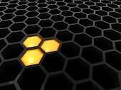 3D Tech preto Honeycomb