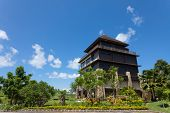 Golf clubhouse building in Bali, Indonesia