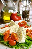 Caprese salad, italian appetizer with mozzarella and tomatoes