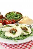 Stuffed Mozzarella And Arugula