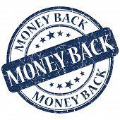Money Back Blue Stamp