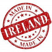 Made In Ireland Red Stamp