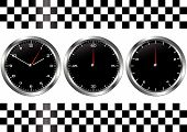 Black Watches And Chronographs
