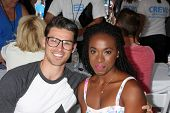 LOS ANGELES - AUG 23:  Adam Gregory, Kristolyn Lloyd at the Bold and Beautiful Fan Meet and Greet at