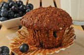 picture of flax seed  - Healthy bran muffin with flax seed and wild blueberries - JPG