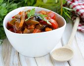 vegetable ragout (ratatouille) paprika, eggplant and carrots