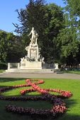 pic of sissi  - The Mozart Memorial Statue in Vienna Austria - JPG