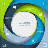 Modern business infographic banner. Vector eps10 illustration