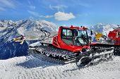 Snow Groomer In Alps
