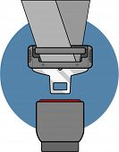 picture of seatbelt  - seat belt - JPG
