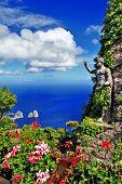 picturesque Capri island. Italian holidays