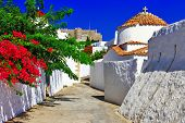 religious Greece.Patmos island. churches and monastery