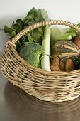 Winter Produce, Fresh Vegetables In Basket